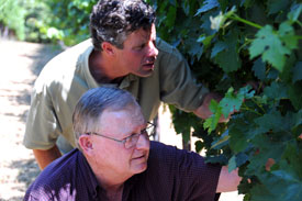 Proprietor Bob Craig & Winemaker Stephen Tebb