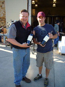 Winemaker Luc Morlet & GM Wes Steffans (Photo Credit: Curt Fischer)