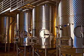 Ultra Modern Fermentation Tanks at Vineyard 7 & 8 (Photo Credit: Curt Fischer)